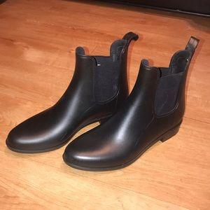 Sam Edelman Black Matte Rain Boots